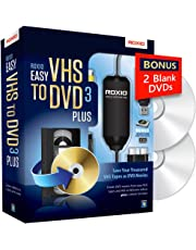 Roxio Easy VHS to DVD 3 Plus - Video to DVD Converter with 2 Extra DVDs - Amazon Exclusive [Key Card]