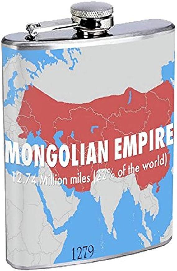 Frasco Imperio mongol S1 Acero inoxidable Cadera 7 Oz Plata ...