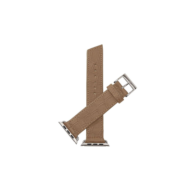 Nie Analog. Ravello Croc Unisex Beige Leder Schnalle Pin