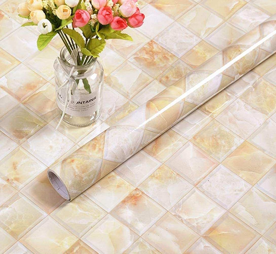 - Amazon.com: BESTERY REDODECO Backsplash Tiles Self Adhesive Marble
