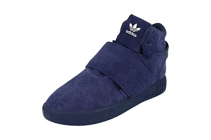 adidas Originals Tubular Invader Sangle Bb5036Bleu Sneaker Schuhe Chaussures pour Homme - Bleu - Dark Blue White Bb5036, 36,7