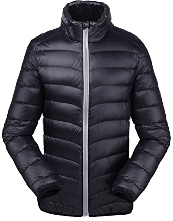 Valuker Men's Down Jacket 90% Down Winter Jacket Ultralight at ...