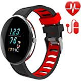 Letscom Fitness Tracker with Heart Rate Watch and Blood Pressure Monitor, IP67 Waterproof, Step Counter Watch, Pedometer, Sleep Monitor, Smart Watch for Women Men Kids