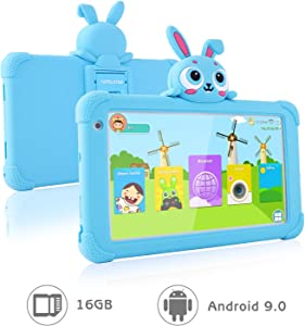 Tablet for Kids 7 inch Kids Tablet for Toddlers Tablet with Case Included Tablets for Kids Children Ipad 1GB 16GB Quad Core IPS Safety Eye Protection Screen Parental Controls YouTube Google (Blue)