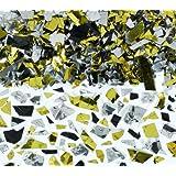 Confetti Party Sparkle Flakes Silver, Gold, Black 2.5 Ounce