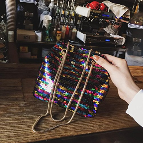 WILLTOO Womens Sequins Bag Fashion Handbag Purse Glitter Shoulder Bag Evening Party Clutch for Girl (Multicolor) by WILLTOO (Image #3)