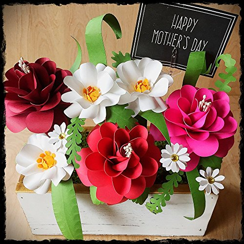 Mother's Day Paper Flower Arrangement With Handmade Roses