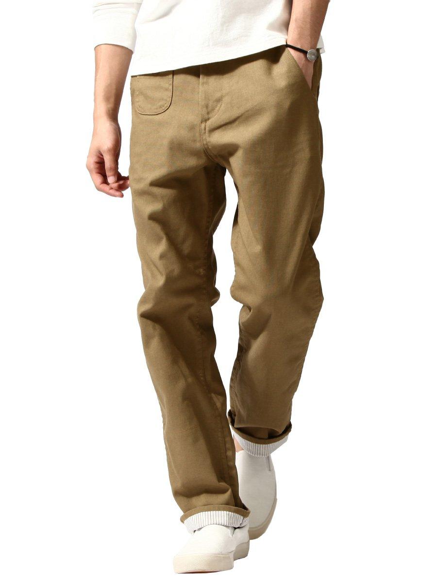 (エムシーアパッシュ) m.c.apache ホップサック ロールアップ パンツ/メンズ ファッション B00406ICEG L|2BEG