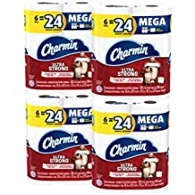 Charmin Ultra Strong Toilet Paper, Mega Roll, 24 Count