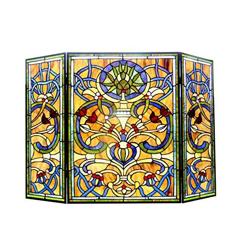 Chloe Lighting Tiffany-Glass Victorian 3pcs Folding 40