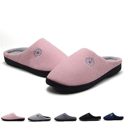 Hombre Espuma Memory Zapatillas de Interior Zapatillas de Estar por Casa Mujer Suave Algodón Zapatilla Unisex Adulto Rosa 42/43 EU: Amazon.es: Zapatos y ...