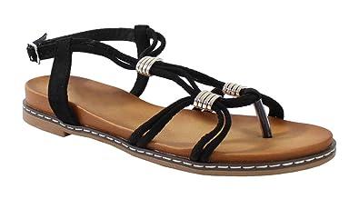 By Effet Femme Shoes Sandale Bohème Daim Style XPkiuZ