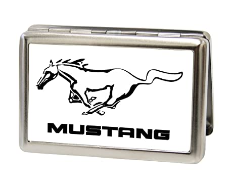 Amazon ford motors metal multi use wallet business card holder ford motors metal multi use wallet business card holder mustang brushed silver reheart Image collections