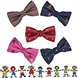 OUMUS 5PC Boys Bow Tie - Stylish Adjustable Pre-tied Bow Ties,3.94''x 1.97''
