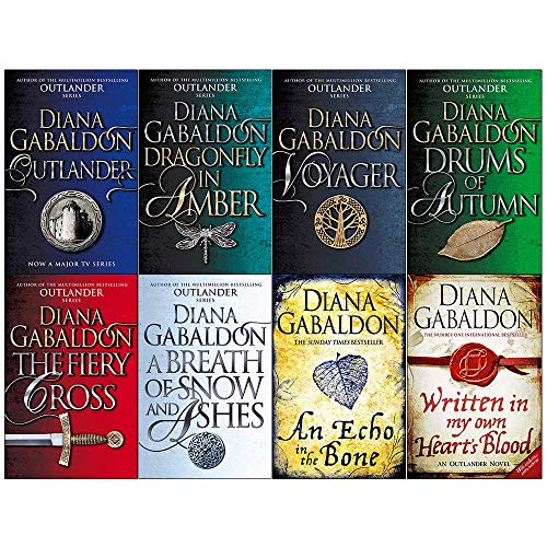 Diana Gabaldon Outlander Series 8 Books Collection Set (Outlander,Dragonfly in Amber,Voyager,Drums of Autumn,Fiery Cross,Breath of Snow and Ashes,An Echo in the Bone,Written in My Own Hearts Blood) (Drums Of Autumn Set)