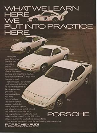 911SC 1978 PORSCHE 924-928 Sports Cars /& Race Car VINTAGE ADVERTISEMENT