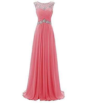 macria Beaded Long Prom Dress Floor Length Evening Gown Size 22 ...