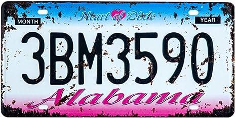 Eureya Metall Blechschild Schild Für Home Cafe Bar Wand Decor Auto Vehicle License Plate