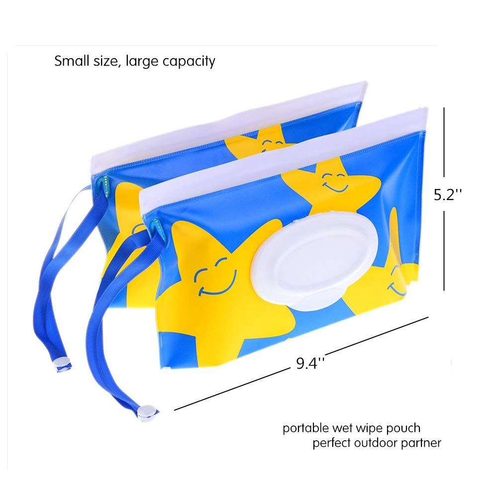 ... Wet Wipe Pouch Dispenser, Reusable Baby Diaper Wipe Holder, Refillable Personal Travel Clutch Dispenser Holder | Keeps Wet Wipes Moist (Type 1): Baby
