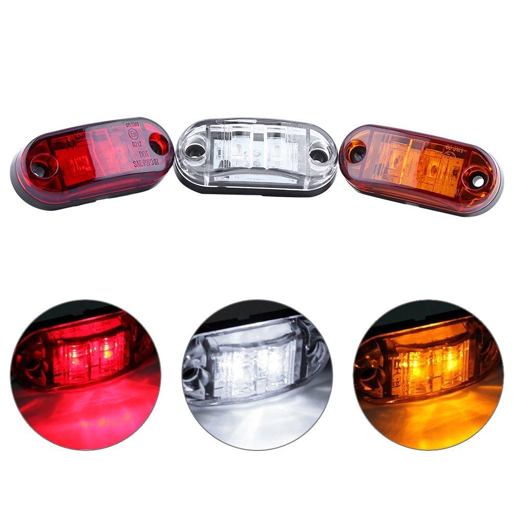 Caravan Side Marker LED Lights Turn Signal Light White