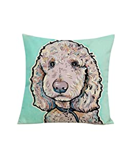 wintefei Cartoon Dog Waist Throw Cushion Cover Linen Pillow Case Home Sofa Decor? -2#