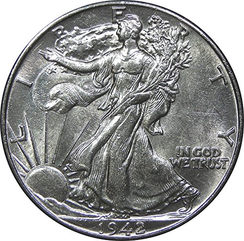 1940 - 1945 U.S. Walking Liberty Silver Half Dollar Coin Half Dollar About Uncirculated Condition