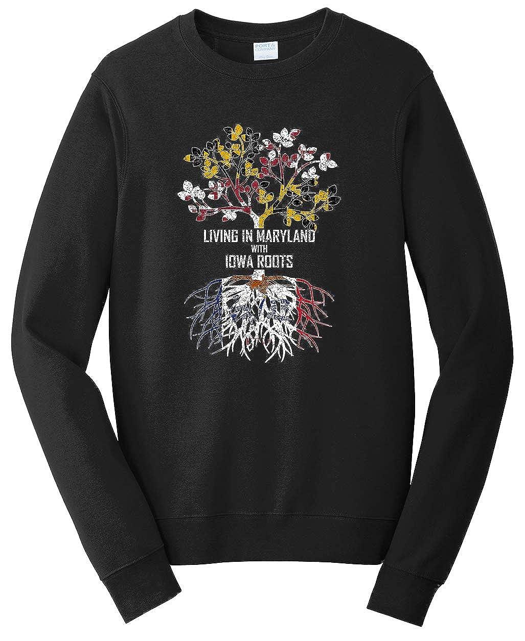 Tenacitee Unisex Living in Maryland Iowa Roots Sweatshirt