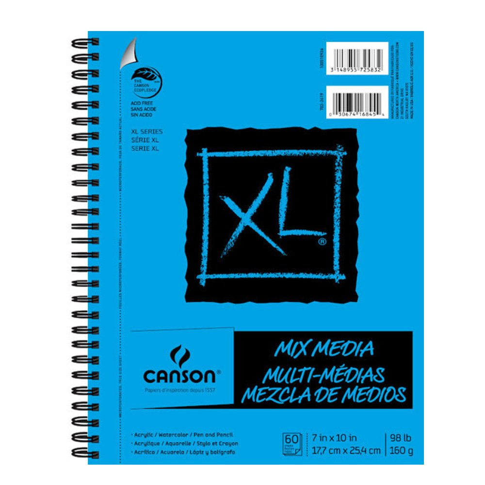 Canson XL Mixed Media Pad 7X10 6 Pack by Hyatts