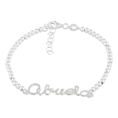Córdoba Jewels | Pulsera en Plata de Ley 925. Diseño Abuela: Amazon.es: Joyería