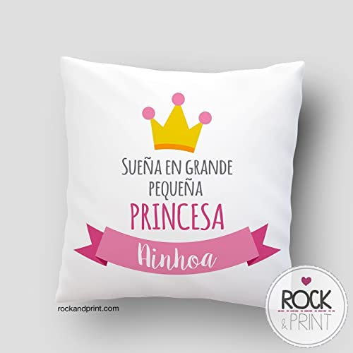 Cojín Princesa sueña en grande. 40x40 cm, incluye relleno ...