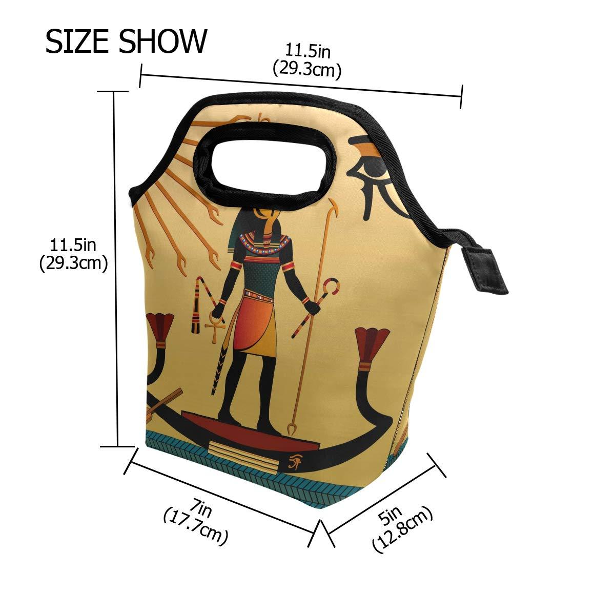Use7 Retro Antiguo Egipto Hombre Aislado Bolsa de Almuerzo