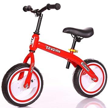 1-1 Bicicletas sin Pedales para niños, Flash Weel Manillar y Asiento Ajustables Ligero no tóxicas,Red: Amazon.es: Deportes y aire libre