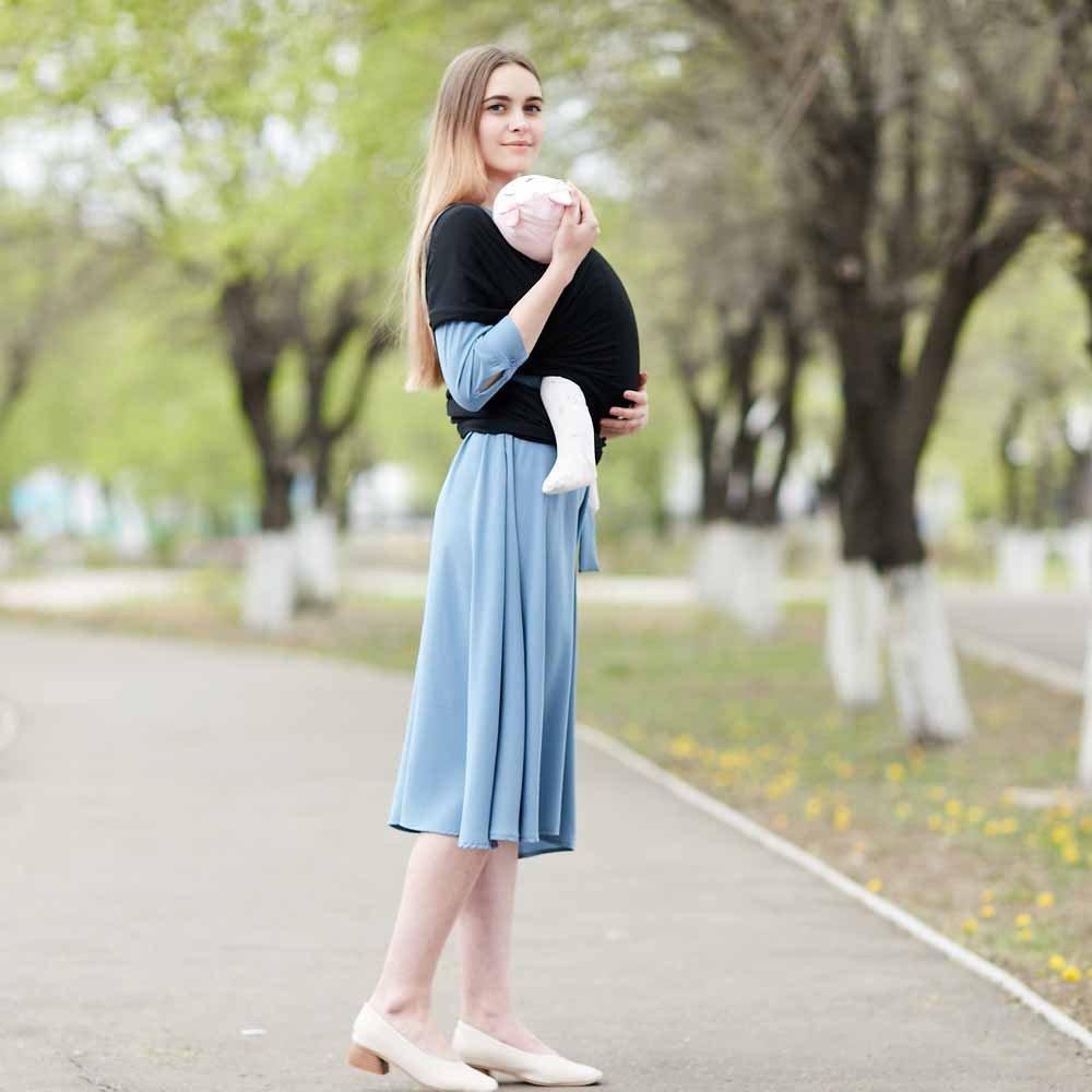 Marsupio Premium | Una Taglia Adatta A Tutti | Accogliente E Lenitivo Per Bambini | Adatto Per Neonati, Neonati E Bambini Piccoli Tessuto Comfort Cotone / Elastan | Garanzia 100% Infinito | Regalo Ideale,Pink LY