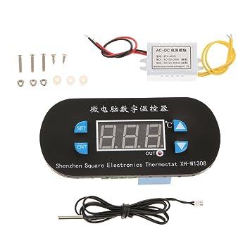 Controlador de Temperatura LCD Sonda con Tornillos Congelador ...