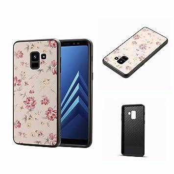Flor Funda Samsung Galaxy A8 2018 Funda,MingKun Funda Case ...