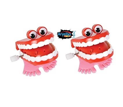 NEW KIDS WIND UP CHOMPING TEETH WITH EYES Home, Furniture & DIY FUN CHILDREN TOY PARTY BAG FILTERS