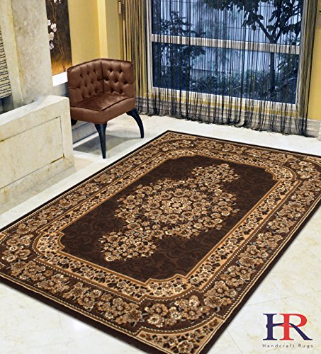 Handcraft Rugs – Persian Oriental Traditional Style Kashan Pattern Living room area rugs Modern Contemporary (Approximately 8 by 10) by Handcraft Rugs