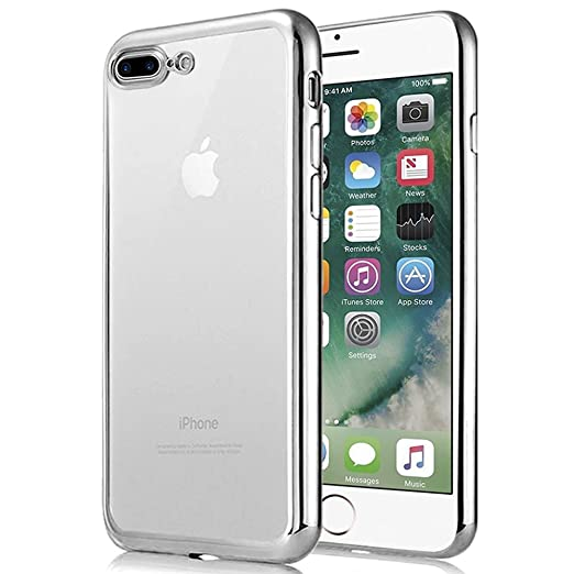 56 opinioni per iPhone 7 Plus Custodia , Ubegood iPhone 7 Plus Case Bumper [Shock-Absorption]