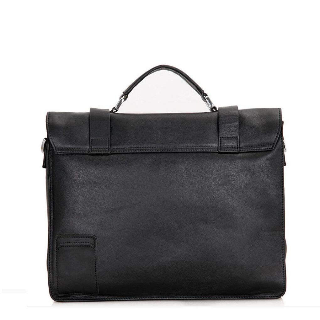Color : A Xinyuan Mens Leather Tote Briefcase Atmospheric Spacious Crossbody Bag Hold 15 Inch Laptop for Travel Business Conference Black Dark Brown