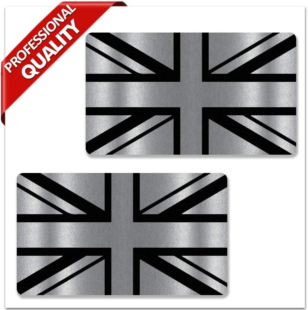 Biomar Labs® 2 x Pegatinas de Vinilo Adhesivos Bandera de Reino Unido Union Jack UK Gran Bretaña GB Flag Británico para Coche Moto Bicicleta Tuning B 257