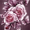 Srogem Home Decoration Retro Rose Flower 5D Diamond Painting Embroidery DIY Paint-By-Diamond Kit Home Wall Decor
