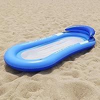 Cama inflable flotante flotador de agua Lilo fila con respaldo ...