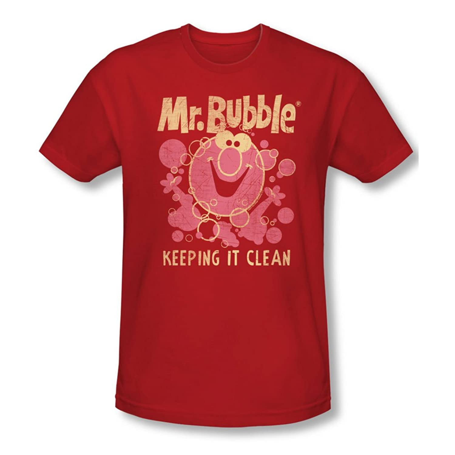 Mr Bubble - Mens Keeping It Clean Slim Fit T-Shirt