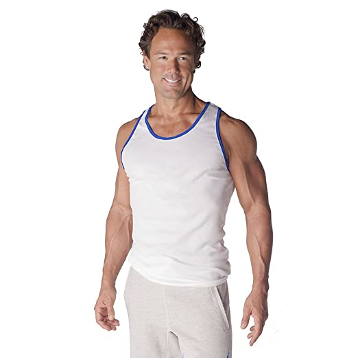 1e378125232be Amazon.com  Mens Ribbed Workout Tank Top by Pitbull in Your Choice of Color   Clothing