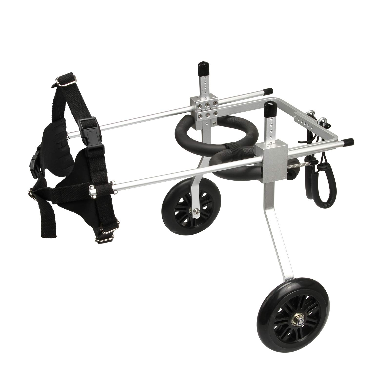 anmas sports Adjustable Dog Wheelchair Dog Cat Cart Wheels Three Sizes for Hind Legs Rehabilitation (Medium)