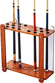 DENGS Billar Holder para 18 Tacos Cue Pool Rack Billar Stick ...