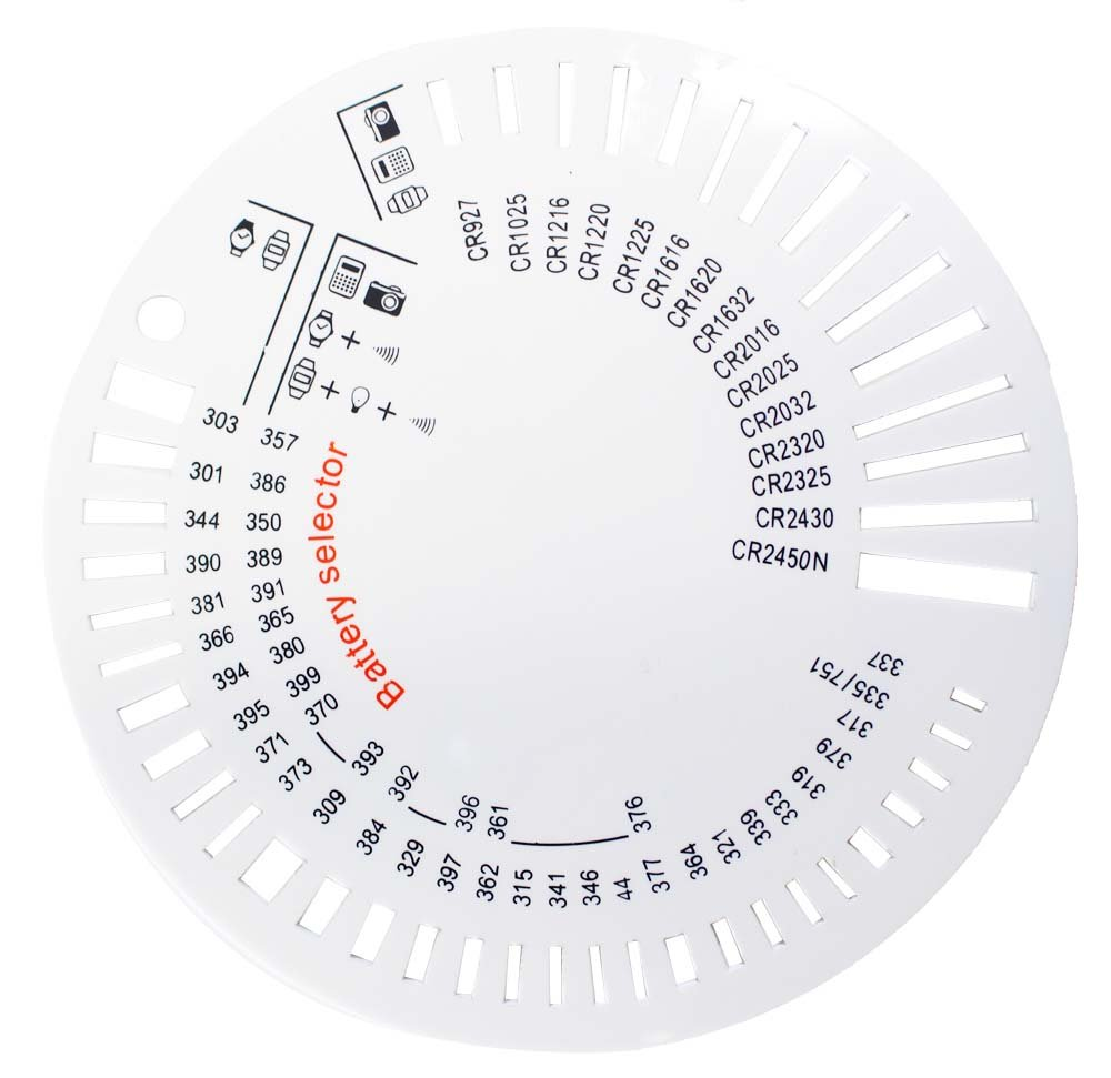 Button or Coin Shaped Battery Selector Disc