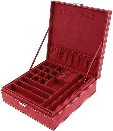 NewbieBoom Organizador de Caja de joyería de Terciopelo de Dos ...