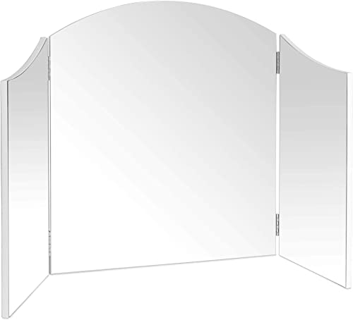 Beautify Large Trifold Hollywood Vanity Mirror with Folding Tabletop Hinged Design W41 X H23.6