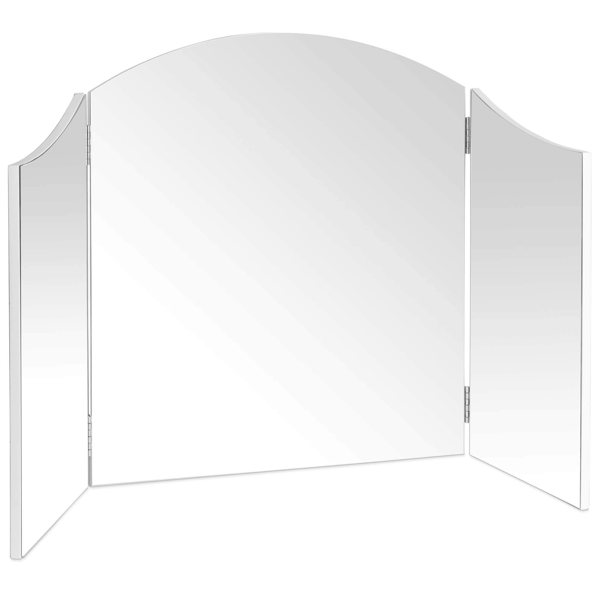 Beautify Large Trifold Hollywood Vanity Mirror with Folding Tabletop Hinged Design W41'' X H23.6'' by Beautify